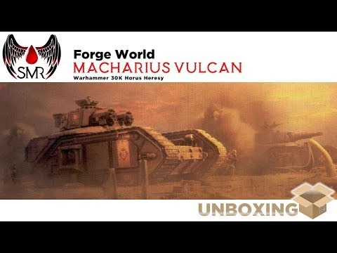 Forge World Macharius Vulcan tank unboxing review