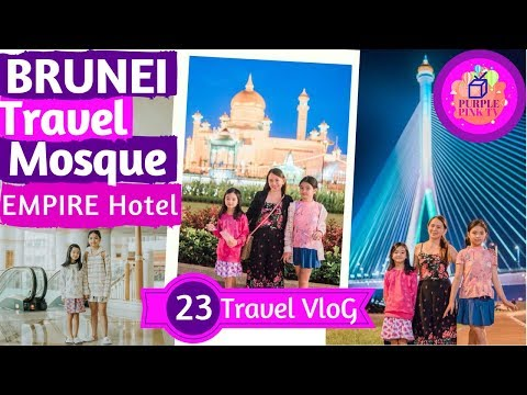 Travel Vlog Trip to Brunei Darussalam (Japan Haul Giveaway) Purple Pink TV