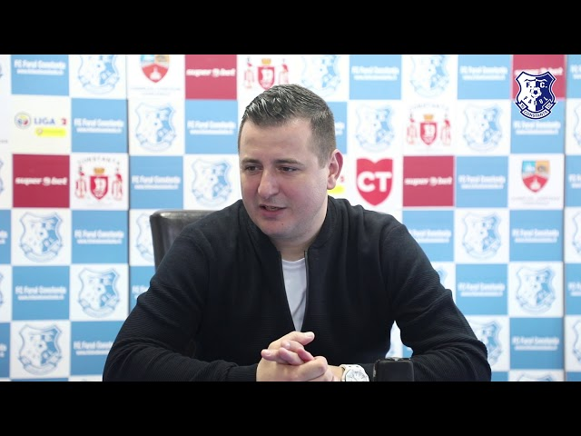 Conferință de presă după partida FC Farul - Concordia