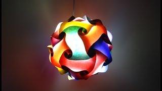 Paper Crafts   Diwali decoration ideas   Beautiful Multicoloured Lantern   DIY Spherical Lantern