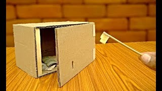 How to make a safe key Locker with cardboard -safe box - TRICKNEW