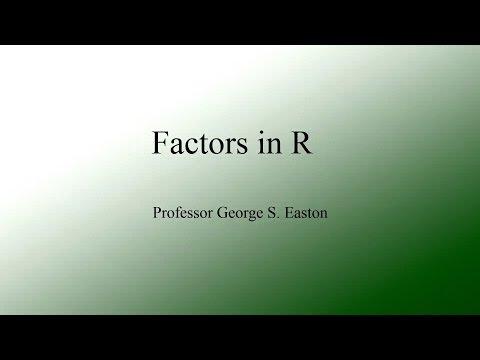 Factors in R
