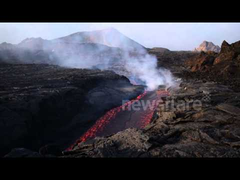 Volcano erupts on Fogo island, Cape Verde