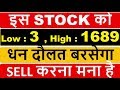Bahubali Stock Low 3 = High 1689  + 21 Dividend Approved ...