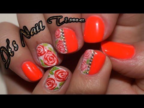Дизайн на короткие ногти Эмаль на золоте/ Design on short nails Enamel on gold