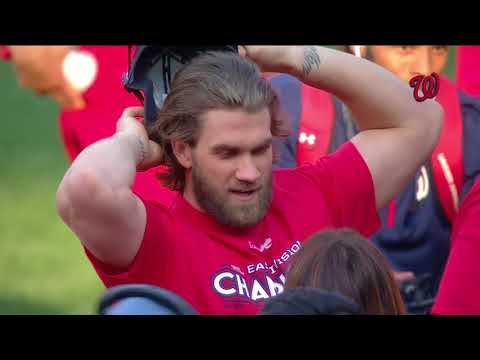 2017 Washington Nationals celebrate NL East title (Part 1 of 3)