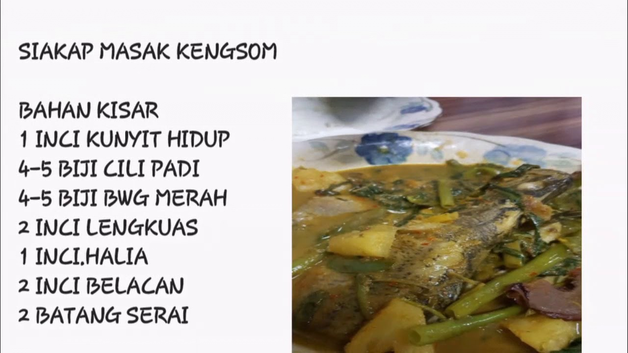 Kengsom Ikan Siakap - YouTube