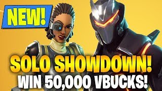 "NEW FORTNITE UPDATE! NEW ""SOLO SHOWDOWN"" WIN 50,000 V BUCKS! (FORTNITE BATTLE ROYALE)"