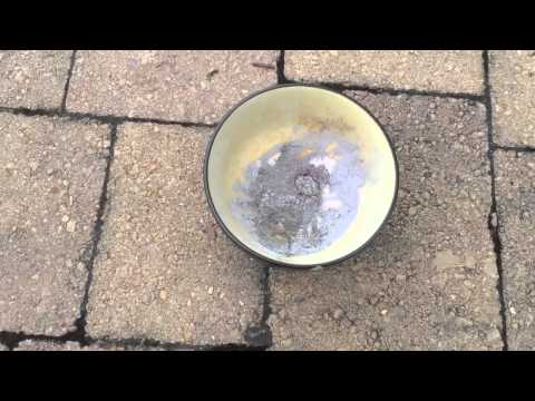 Highly Exothermic Reaction Of Aluminum And Iodine