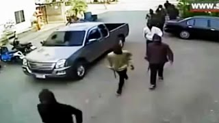 School Principal Shoot Out With Several Gang Members - Don't Mess With Educated People With A Gun!