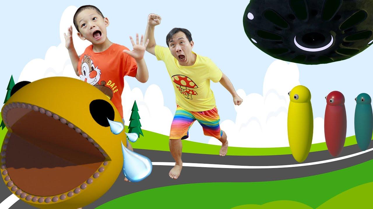 Pacman bị lạc rồi - Bố và BiBo giúp Pacman tìm đường về nhà - Pacman is lost - BiBoBen