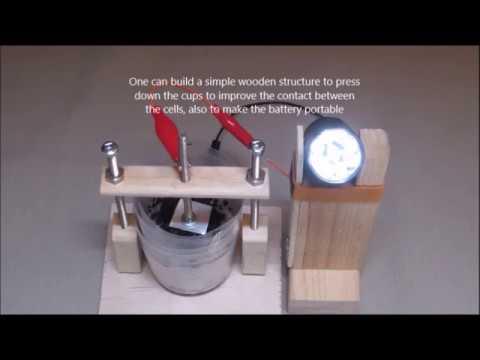6 Cell Aluminium/Air Salt Water Battery - Version2