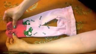 Как сложить детские носочки, трусики и колготки ➨ компактно, красиво, быстро.