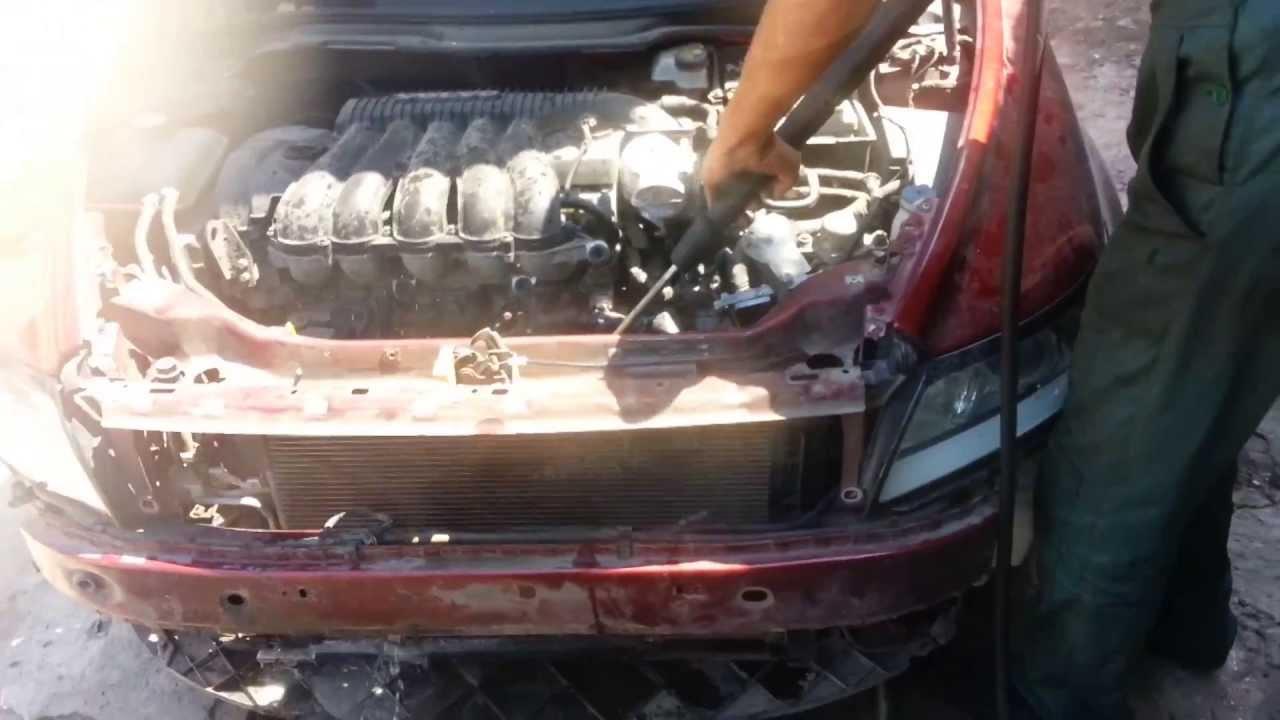 Чистка сот и радиаторов кондиционера и двигателя