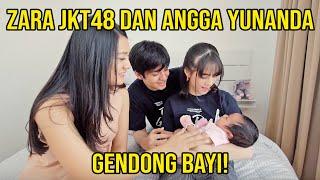 NGAJARIN ZARA JKT48 DAN ANGGA YUNANDA GENDONG BAYI! 😂