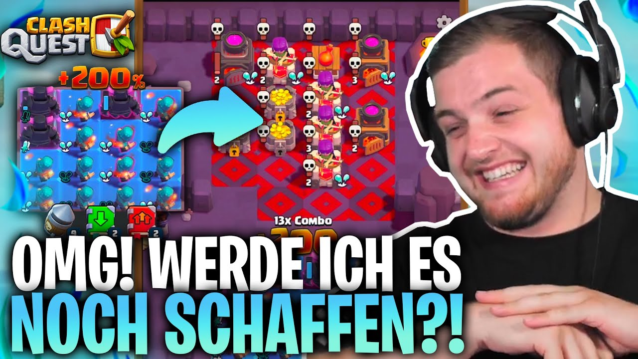 🤩😎 ICH bin EINFACH der HEFTIGSTE CLASH QUEST Spieler!  ROAD to PLATZ 1 der WELT!