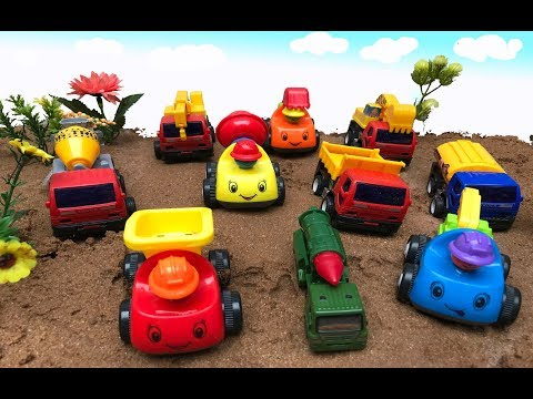 Toy to make vehicle finder on sand Erosion sand clean toy car part 2