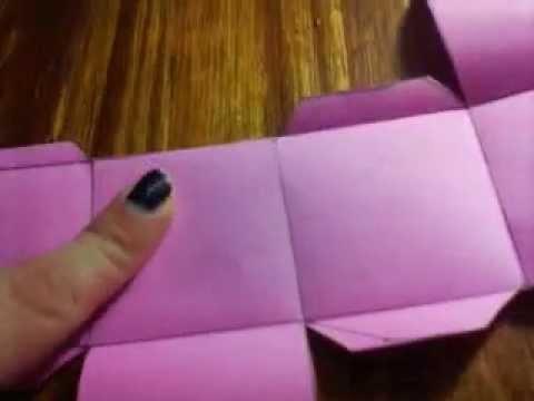 Como hacer una caja de papel sin plantilla diy caja en - Como hacer cajitas de cartulina ...