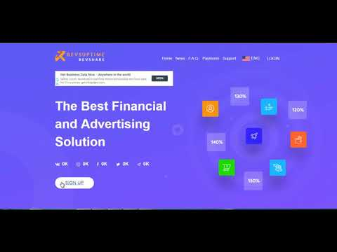 Revsuptime overview Earn 100USD per day best revenue sharing sites new Revshares  revshare sites