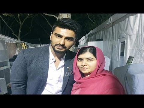 Arjun Kapoor meets Malala Yousafzai, shares picture on twitter