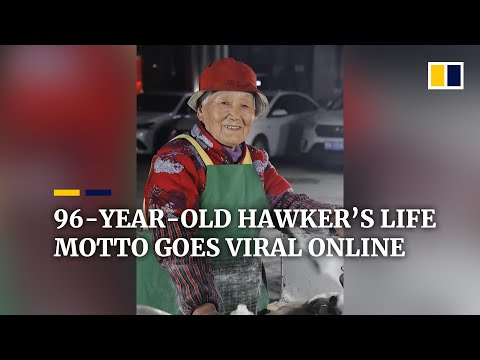 96-year-old hawker's life motto goes viral online