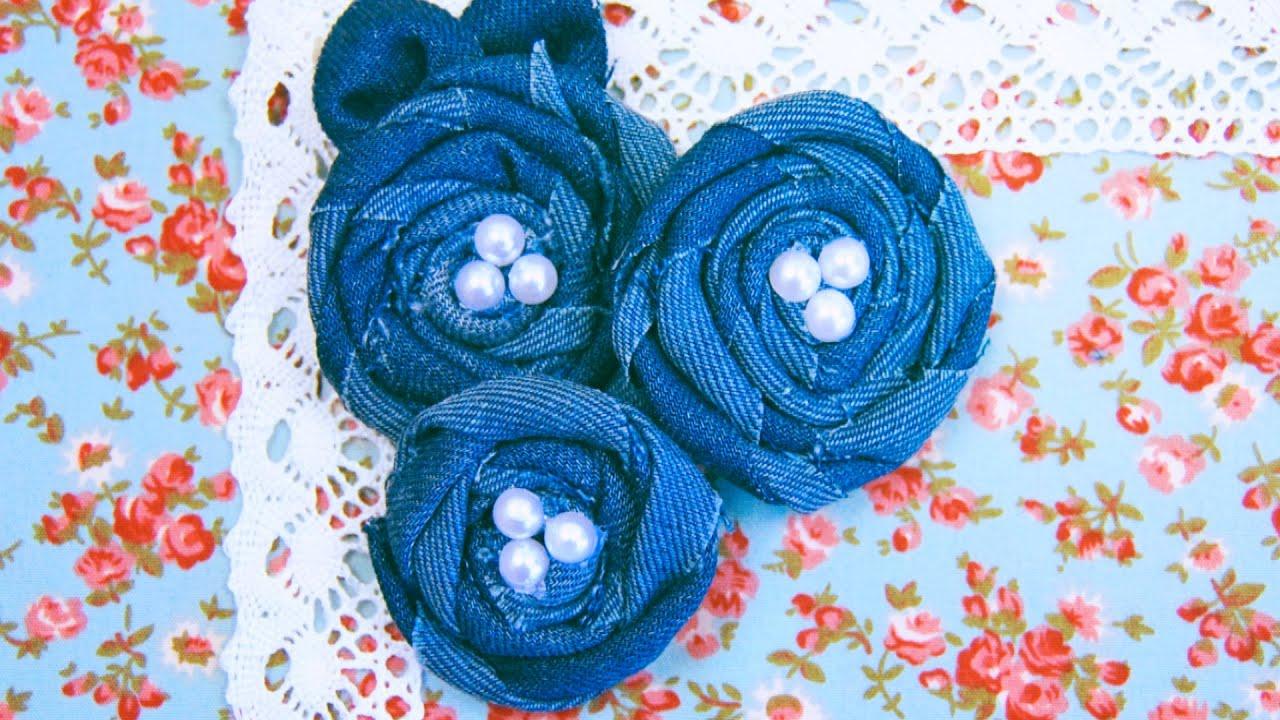 Цветы своими руками из джинса