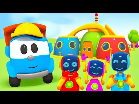 Развивающие мультики для детей про машинки. Грузовичок Лева - строитель.