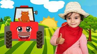 Old Macdonald Had a Farm Song for Kids | Nursery Rhymes | Funny Leyla