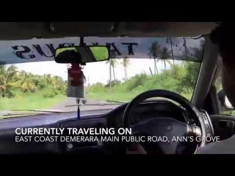 Traveling Down The East Coast Demerara Main Public Road- Republic Of Guyana (HD) (60FPS)