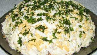Вкуснейший салат со шпротами