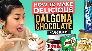 How to Make Whipped Nutella Dalgona for Kids + 3 Other Recipes (No Coffee)