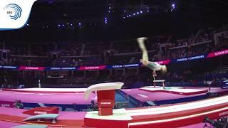 Nazli SAVRANBASI (TUR) - 2018 Artistic Gymnastics Europeans, junior qualification vault
