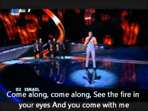 Eurovision 2008 Israel - Boaz -The Fire In Your Eyes English Translation