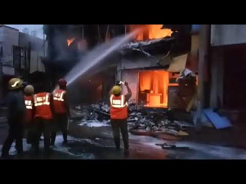 Chittoor Apurva textile burning