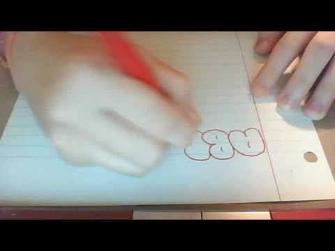 bubble letters draw o9g