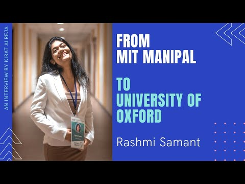 MIT Manipal to University of Oxford | How I got into Oxford? | Tips for Freshers | COVID effect from YouTube · Duration:  16 minutes 26 seconds