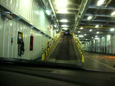 Driving onto Oscar Wilde Ferry 210610