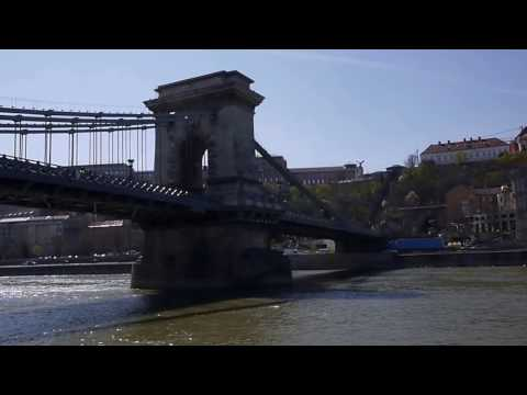 Budapest - crossing the Danube from Parliament under the Chain Bridge to Varkert Bazar