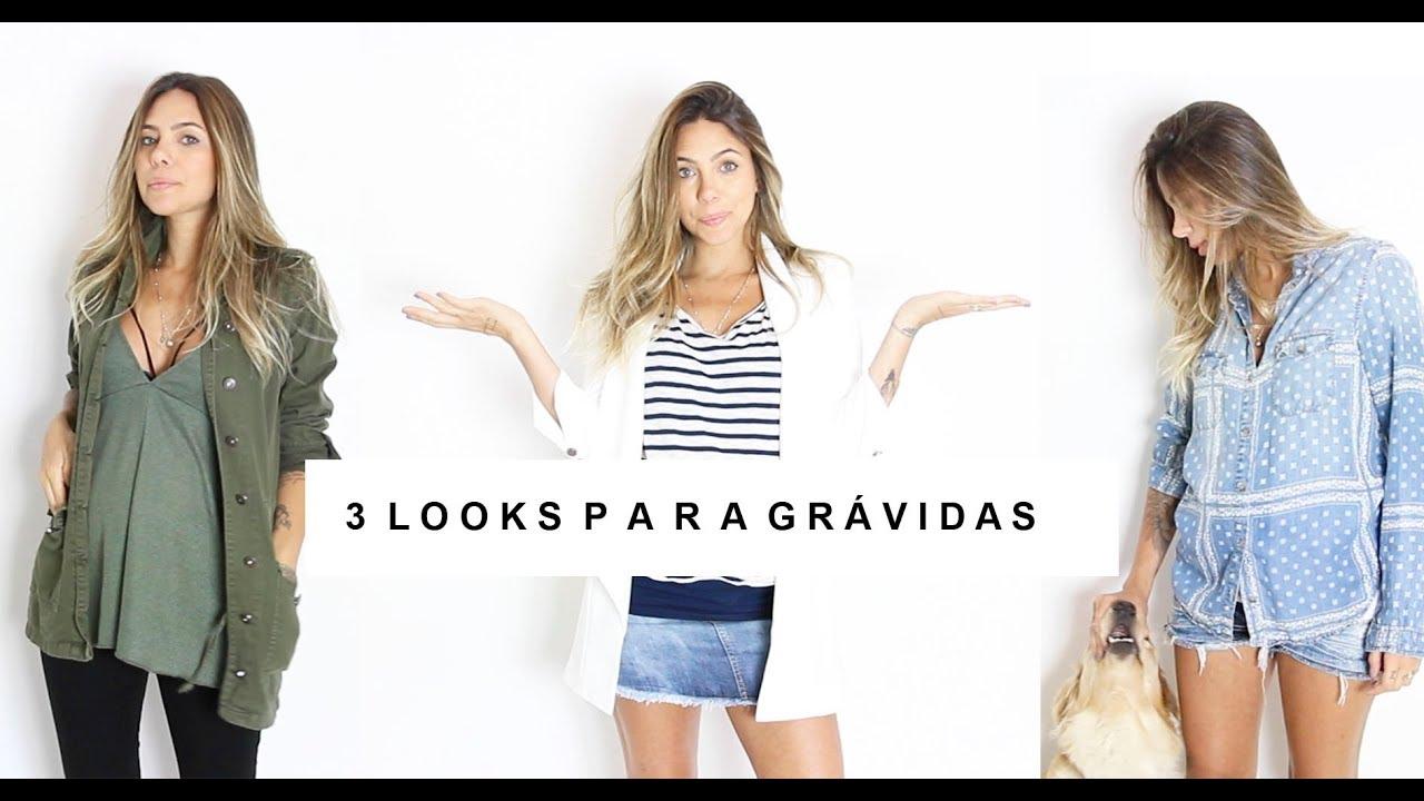 38a61cb9e827a 3 LOOKS PARA GRÁVIDAS - roupas que não servem mais - YouTube