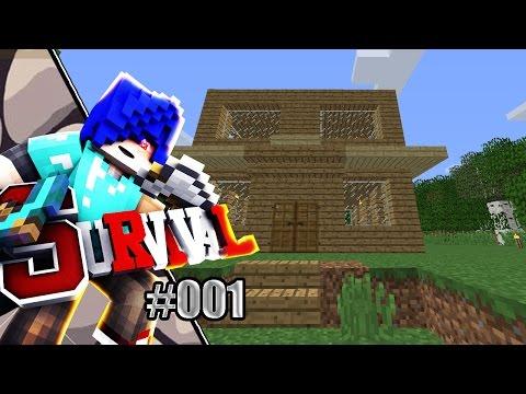 Minecraft เอาชีวิตรอด (1.10.2)   ตอนที่ 1   บ้านหลังแรก (มายคราฟเอาชีวิตรอด)