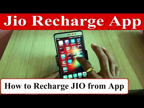 Check Jio SIM Plans by Mobile Recharge App & How to Recharge