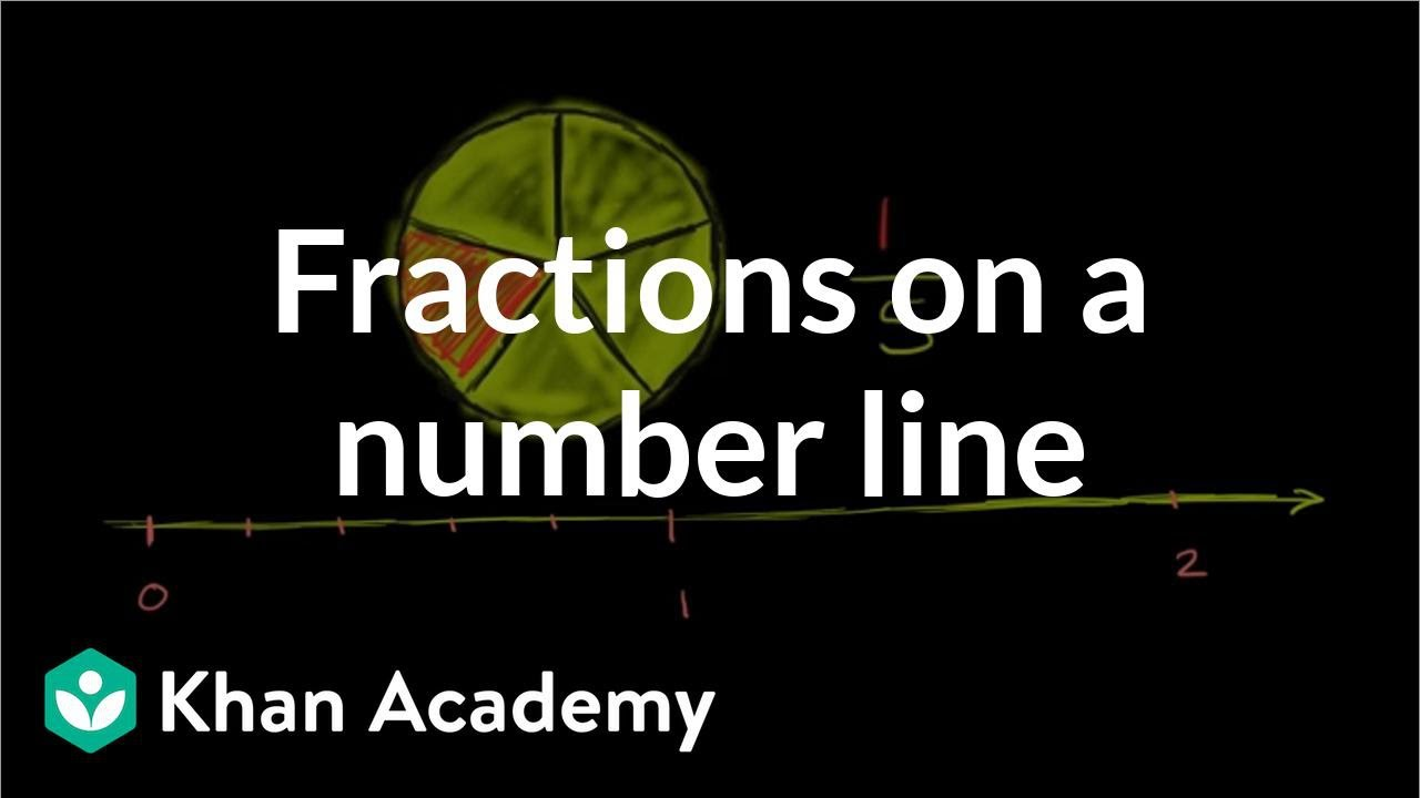hight resolution of Fractions on a number line (video)   Khan Academy