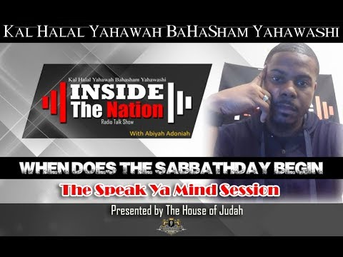 WHEN DOES THE SABBATH START AND END PROOF!!!