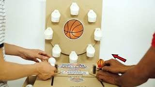 How to Make Amazing NBA Basketball Game from Cardboard | 3 Level & 2 Players