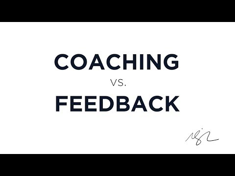 Coaching vs. Feedback