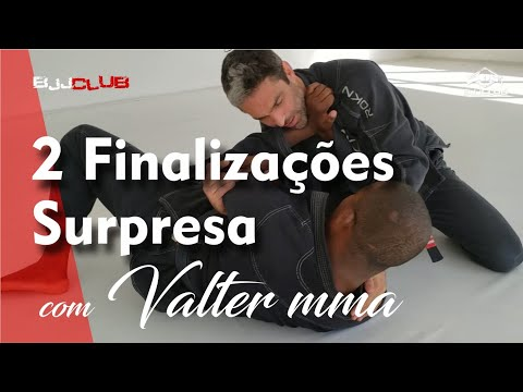 2 Finalizações surpresa com Valter MMA - Jiu Jitsu - BJJCLUB