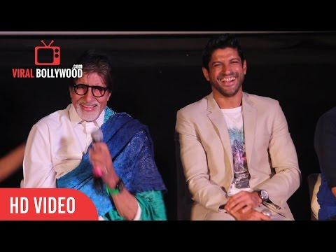Funny Moment | Amitabh Bachchan | Farhan Akhtar | Vidhu Vinod Chopra | Wazir Trailer Launch