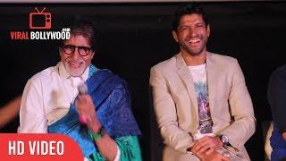 Funny Moment   Amitabh Bachchan   Farhan Akhtar   Vidhu Vinod Chopra   Wazir Trailer Launch
