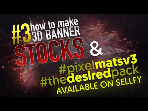 How to make rocky 3D Banner | #3 - Stocks | New Releases on Sellfy! | by Saw PixeL