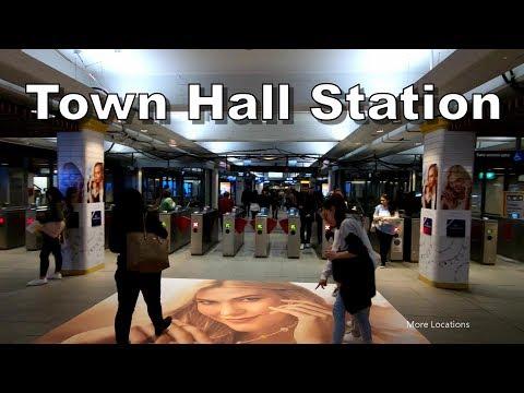 Town Hall Train Station & Underground Shopping - Sydney Australia - Sydney Trains